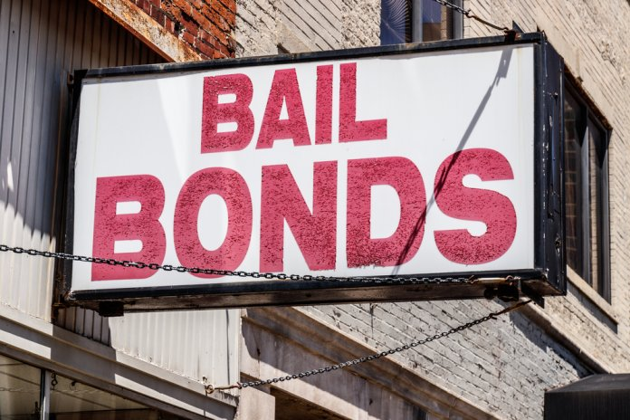 Bail Bonds sign chained